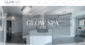 Image of Glow Spa Website